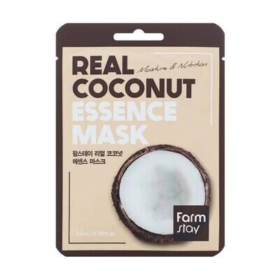 Маска для лица с экстрактом кокоса Real Coconut Essence Mask Farmstay