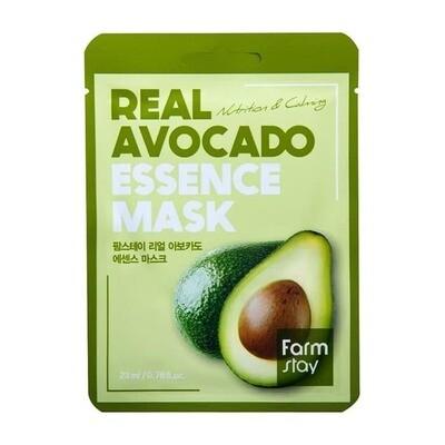 Маска для лица с авокадо Real Avocado Essence Mask Farmstay