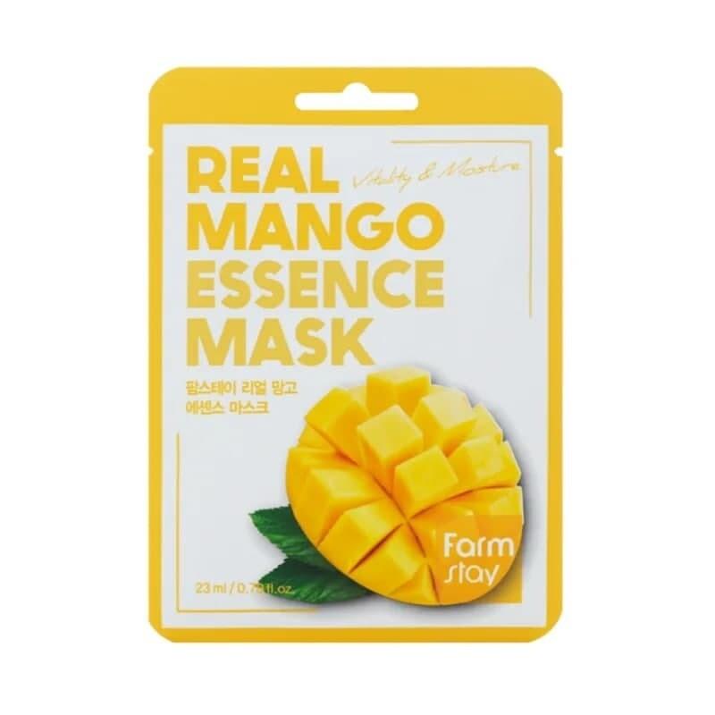 Маска для лица с экстрактом манго Real Mango Essence Mask Farmstay