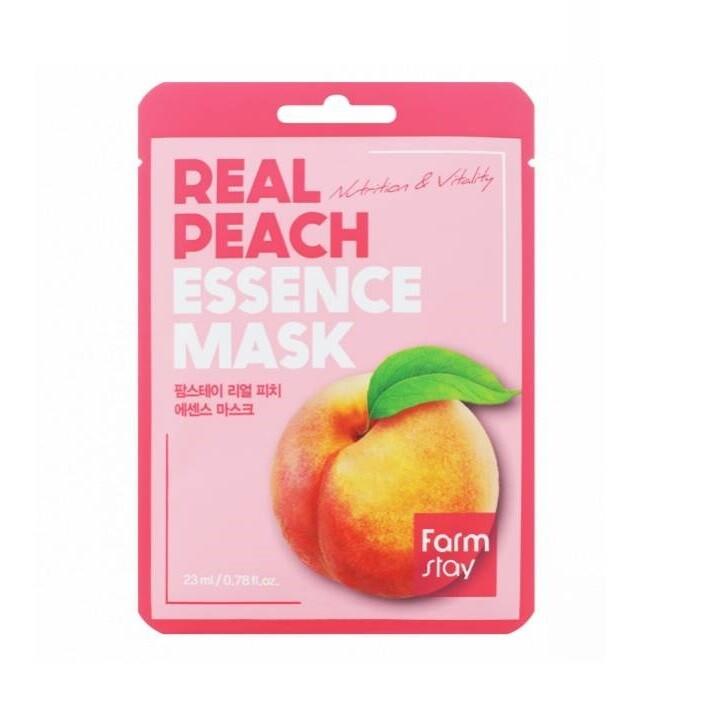 Маска для лица с экстрактом персика Real Peach Essence Mask Farmstay