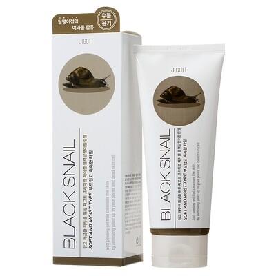 Гель-пилинг с экстрактом улитки Premium Facial Black Snail Peeling Gel, Jigott 180 мл.