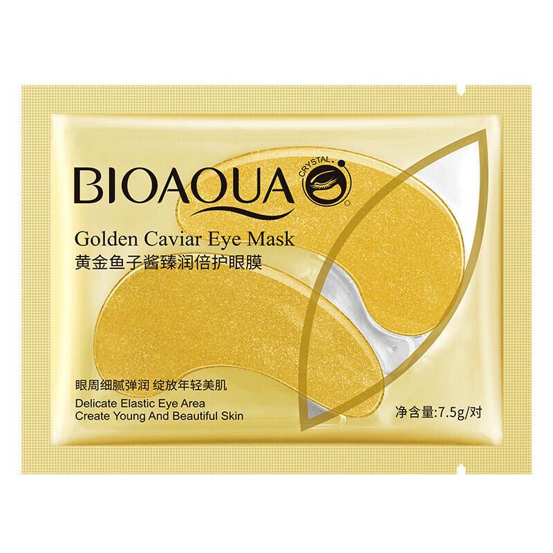 Патчи для глаз с биозолотом и экстрактом икры (1 пара) Bioaqua