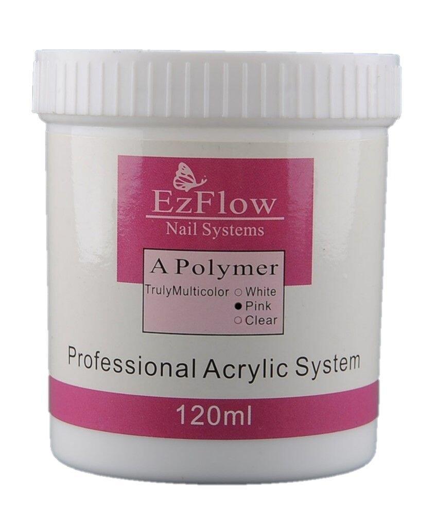 Акриловая пудра для ногтей EZFLOW розовая (PINK), 120 мл.