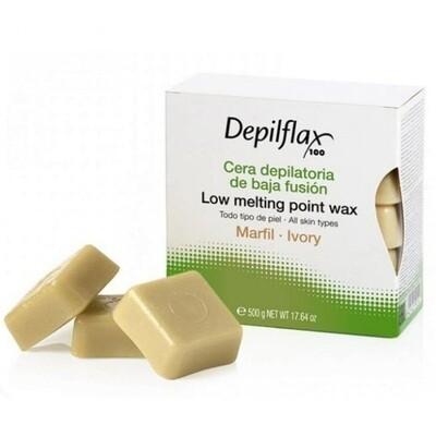 Воск для депиляции в брикетах слоновая кость Depilflax 500 гр.
