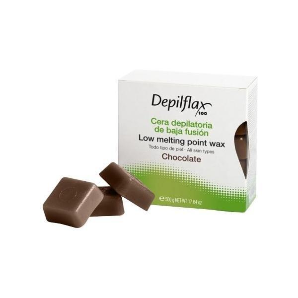 Воск для депиляции в брикетах шоколад Depilflax 500 гр.