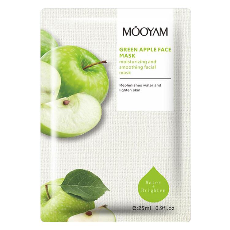 Увлажняющая, осветляющая маска с экстрактом яблока Mooyam