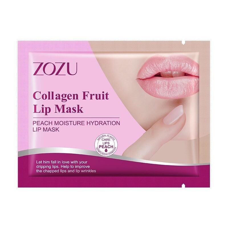 Патчи для губ с экстрактом персика Collagen Lip Mask Zozu