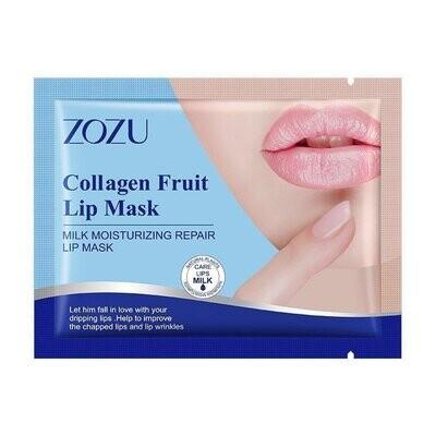 Патчи для губ с молочными протеинами Collagen Lip Mask Zozu
