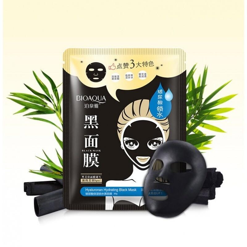 Черная маска с гиалуроновой кислотой глубокое увлажнение Bioaqua
