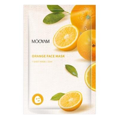 Маска - заряд энергии, с экстрактом апельсина Mooyam