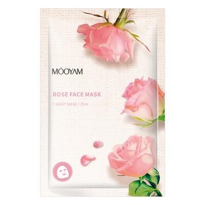 Увлажняющая маска с экстрактом розы Mooyam