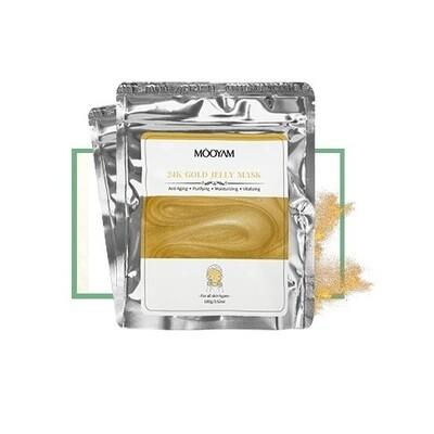 Альгинатная маска с золотом Mooyam 100 гр.