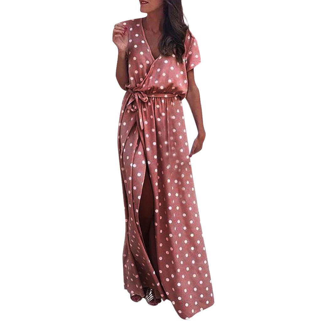 Elegant Vintage Dot Printing Dress Women Summer Sleeveless Knee-Length