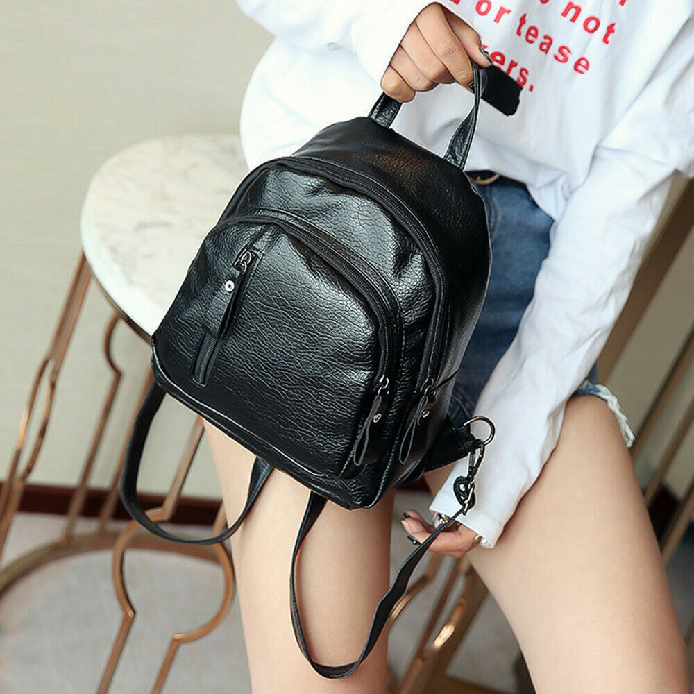 Backpack Pu Leather Women Multi-function Backpack