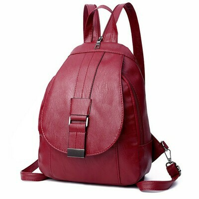 Aelicy Women Leather Backpacks Vintage