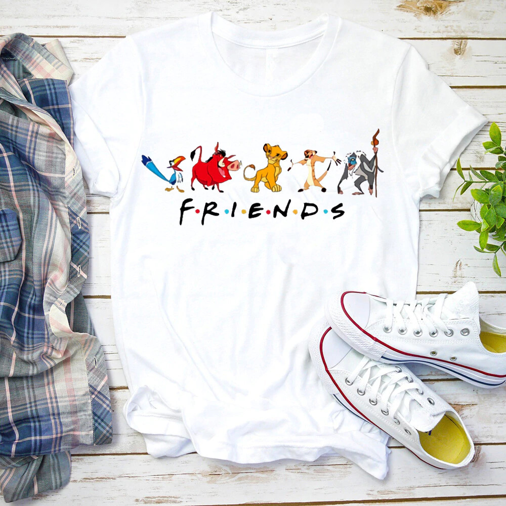 Women 2020 Animal Kingdom Shirt Beauty and The Beast Friends Cute Vacation Cartoon Graphic Print T-shirt
