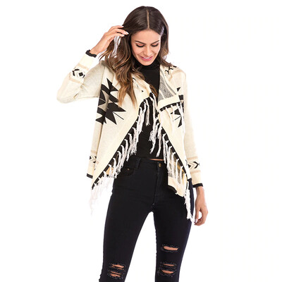 New Women Long Sleeve Knitted Open Stitch Coat 2020