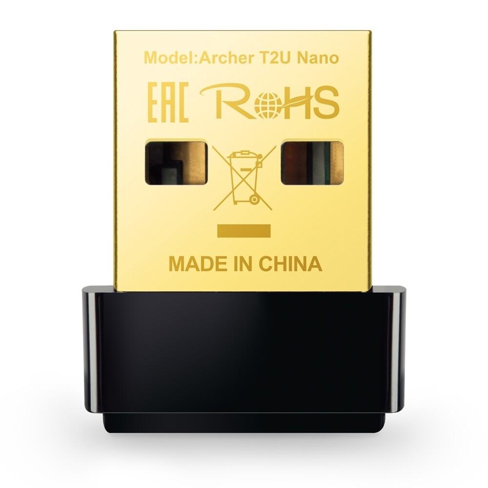 Adaptador de Red WiFi USB Banda Dual Archer T2U Nano TP-Link