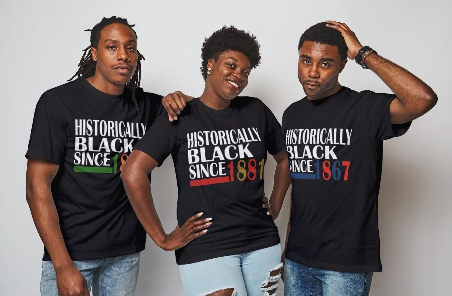 Historically Black Since Signature HBCU School Name T-Shirt