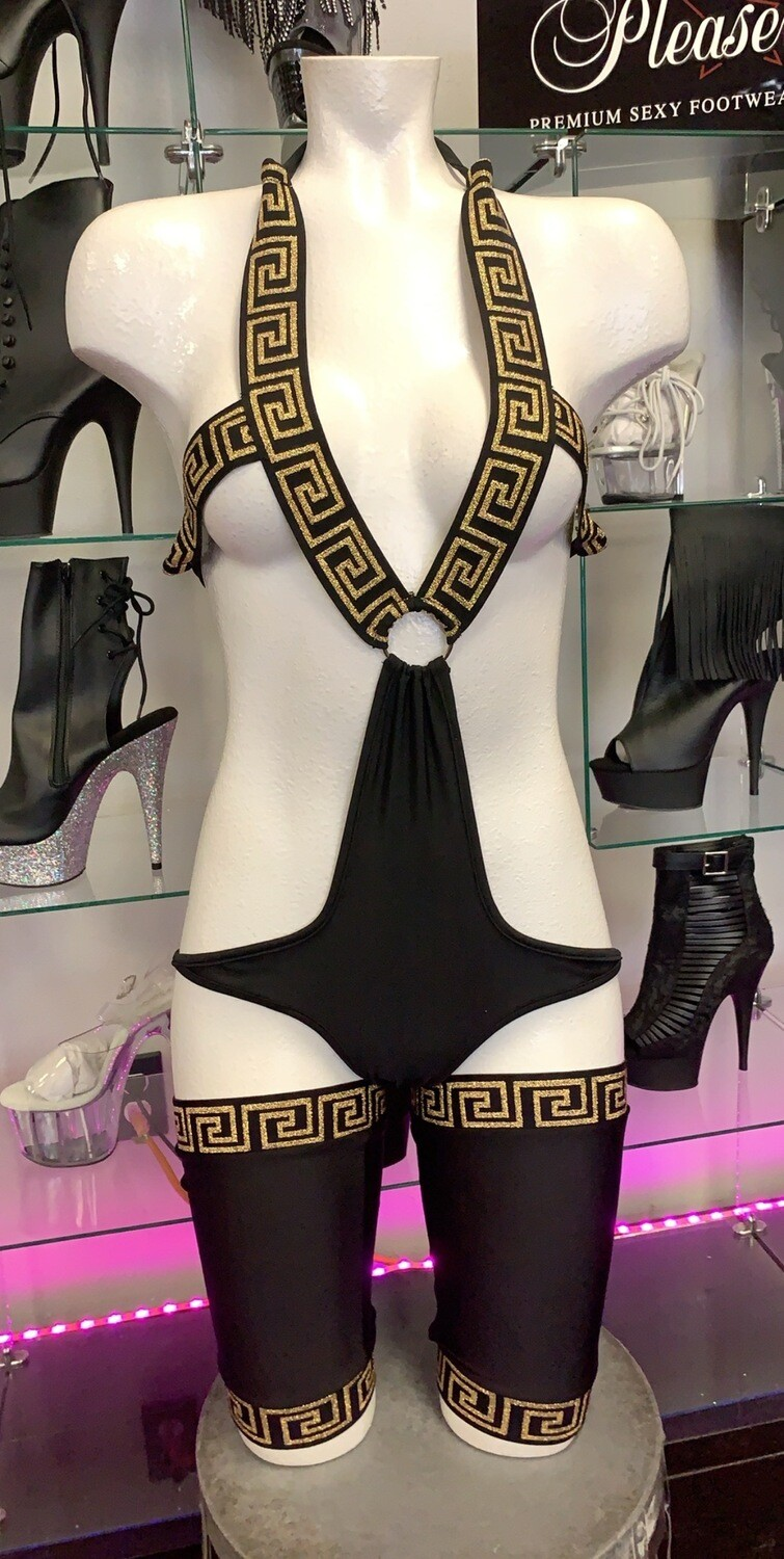p-705 black gold versace 3 piece set