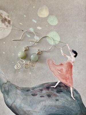 Foam swirl earrings