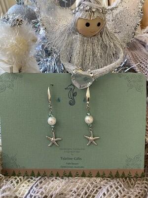 Sea Star & Pearl Earrings