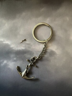 Anchor Keyring, Stainless Steel