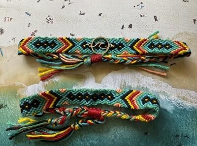 """Cotton Anklet/Bracelet - """"Fiji"""" ($12/$8)"""
