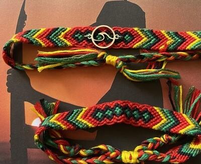 """Cotton Anklet/Bracelet - """"Mauritius"""" ($12/$8)"""