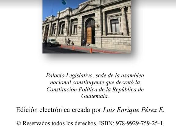 Venta: Constitución Política de la República de Guatemala - Edición electrónica de Luis E Perez