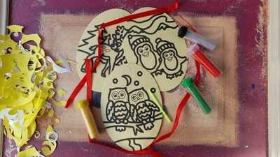 Christmas Oval Sand Art