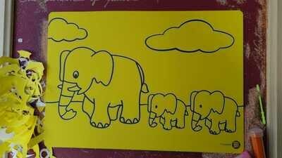 Animals Sand Art Cards