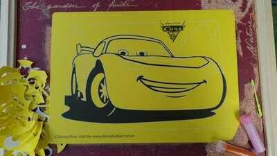 Cars Sand Art Cards