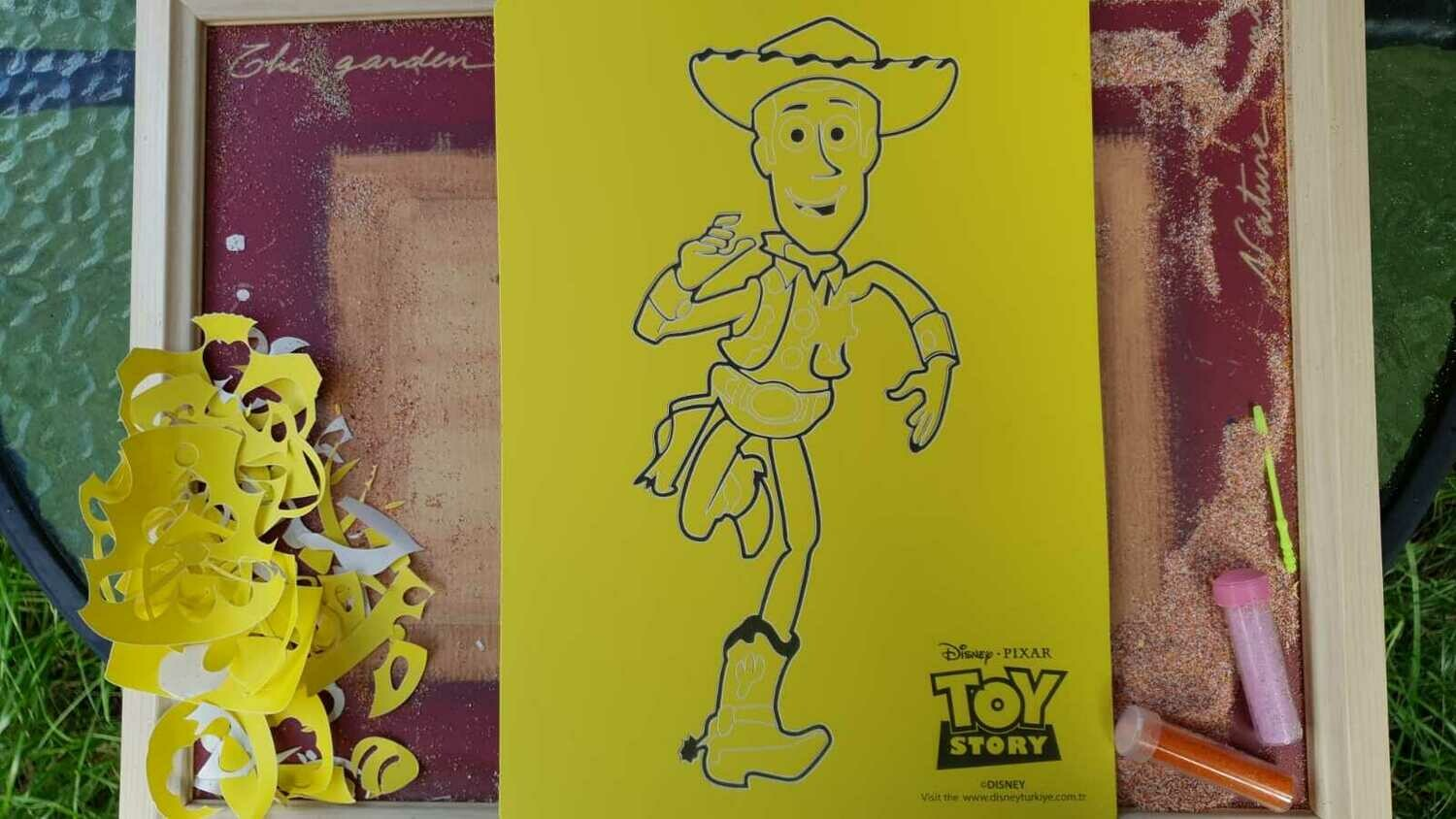 Toy Story Sand Art Cards
