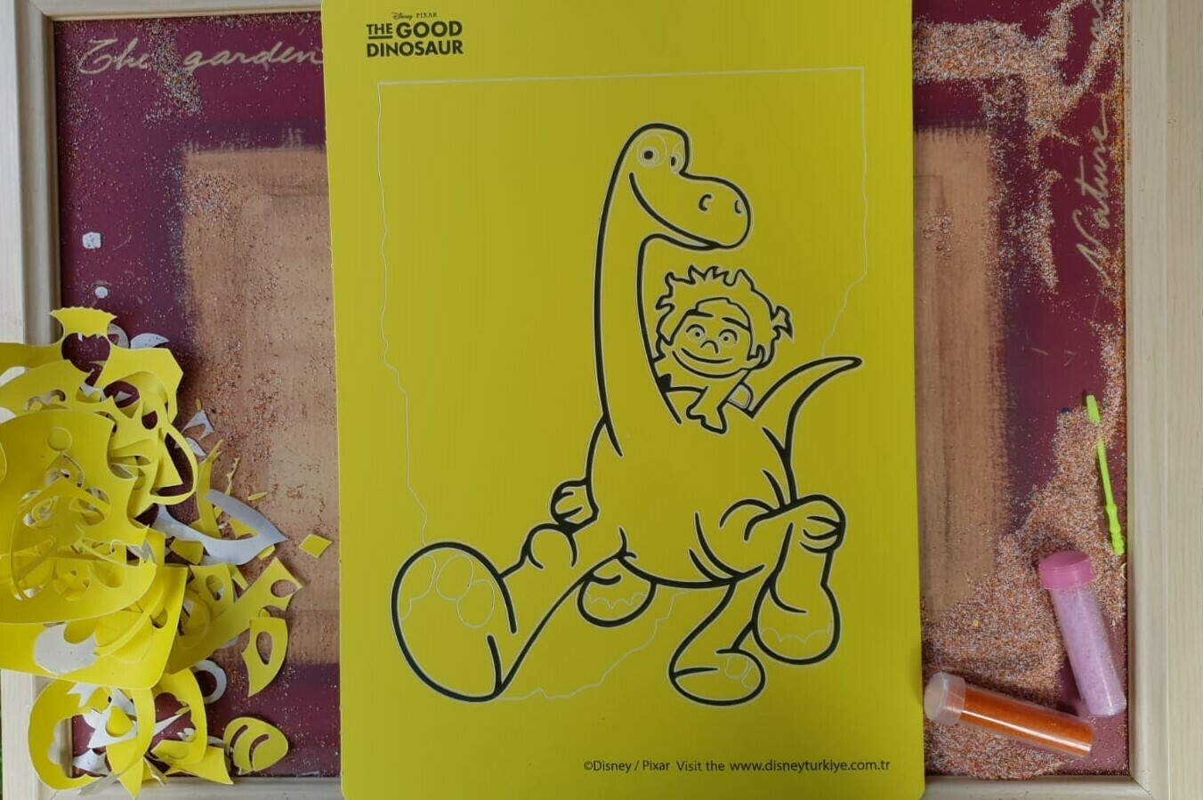 Good Dinosaur Sand Art Cards