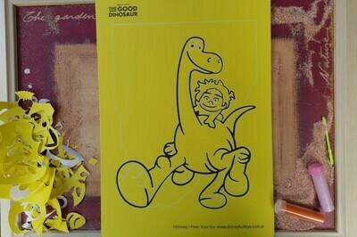 Good Dinosaur Sand Art Cards