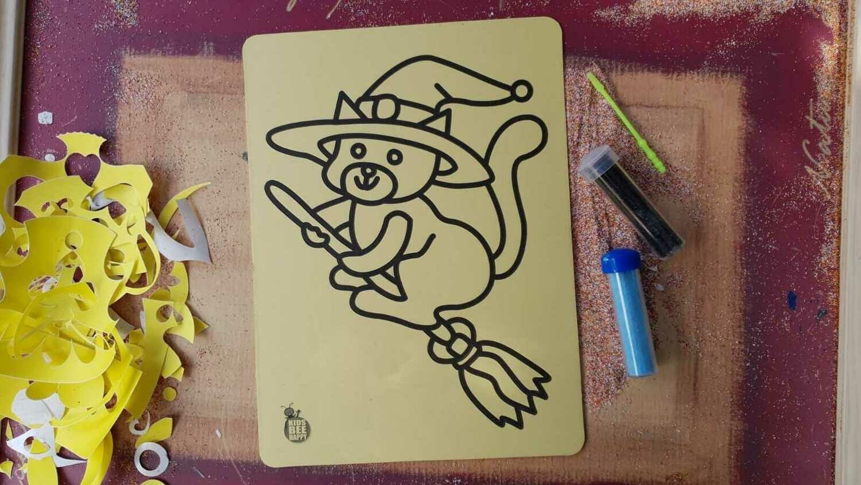 Medium Halloween Sand Art Cards