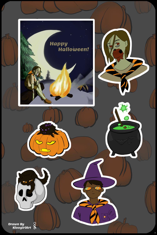 Spooky Adventure Sticker Set