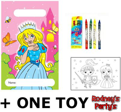 Filled Princess Party Bags