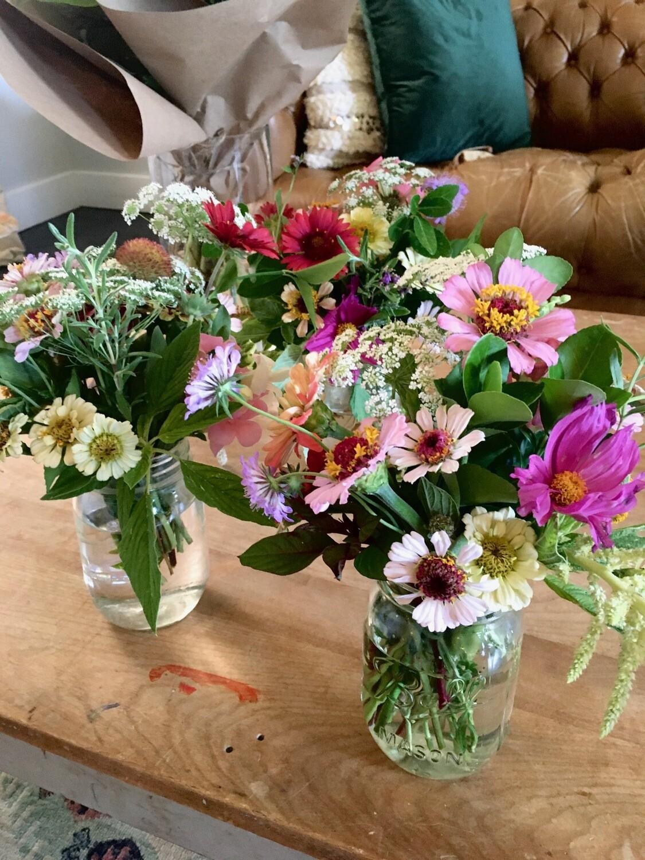 Mini Jar Summer Arrangement