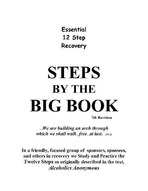 Steps By The Big Book Workbook Kindle eBook