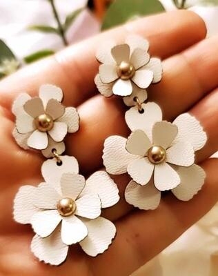 Two Flowers One Earring