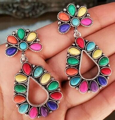 Colored Stones Earrings