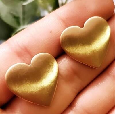 Gold Heart Earrings