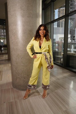 Paulina Yellow Two Pieces