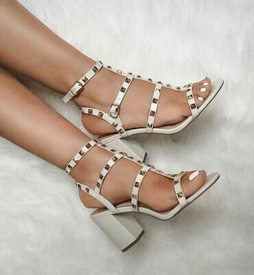 Ivory Color Sandals