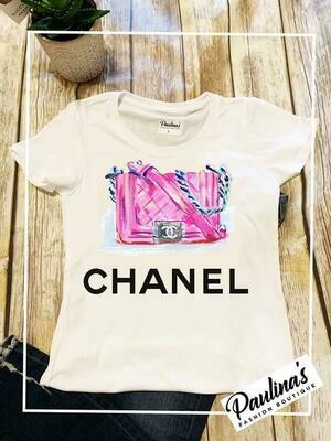 CC Pink Paint Purse  Top