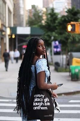 Lightweight Black Girl's Anthem Tote