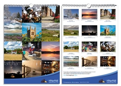 The Hedgehogs A4 Love Farnham Calendar 2021