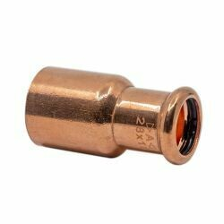 Copper Press Fitting 22 x 15mm Fitting Reducer